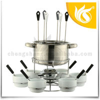 China Wholesale Stainless Steel Fondue Warmer Set