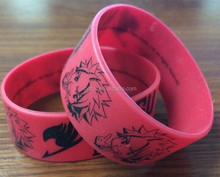 thick silicone wrist bands with colors printed design