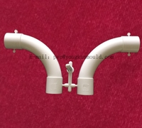 Plastic 2 Cavities pvc bridge flared pipe fitting mould/mold