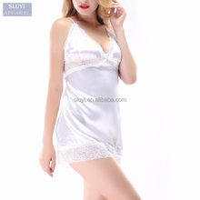 sexy new model nighties High elasticity plus size lace costumes white pink women sexy short nighty