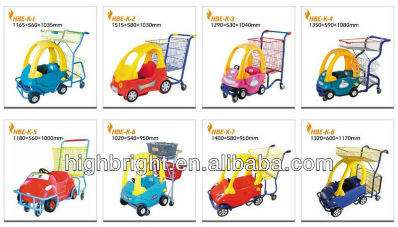 Plastic supermarket baby children kids shopping trolley with toy cart for baby