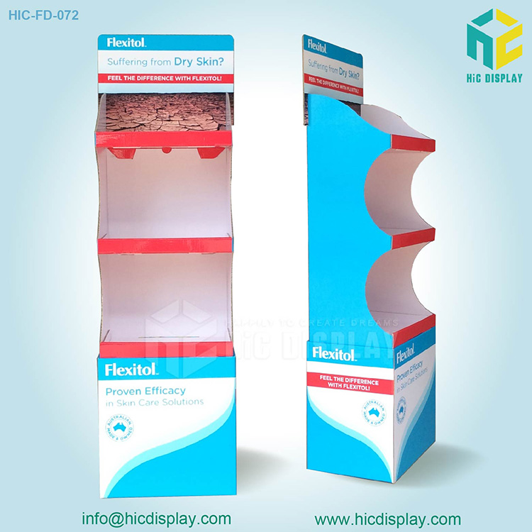 Skin products display stand, Cardboard display stand for skin products