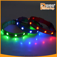 2015 top selling custom made rhinestone dog led collar TZ-PET1002 new dog products
