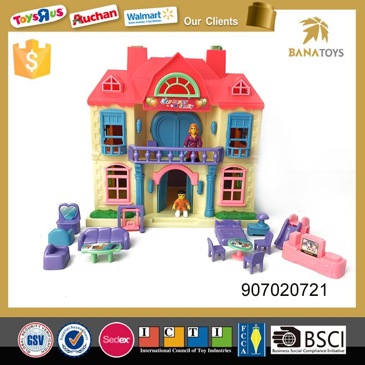 Christmas gift plastic mini house toy