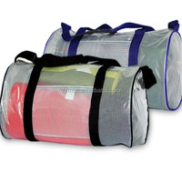 transparent pvc tarpaulin polyester mesh with PVC coated for boating dry bags