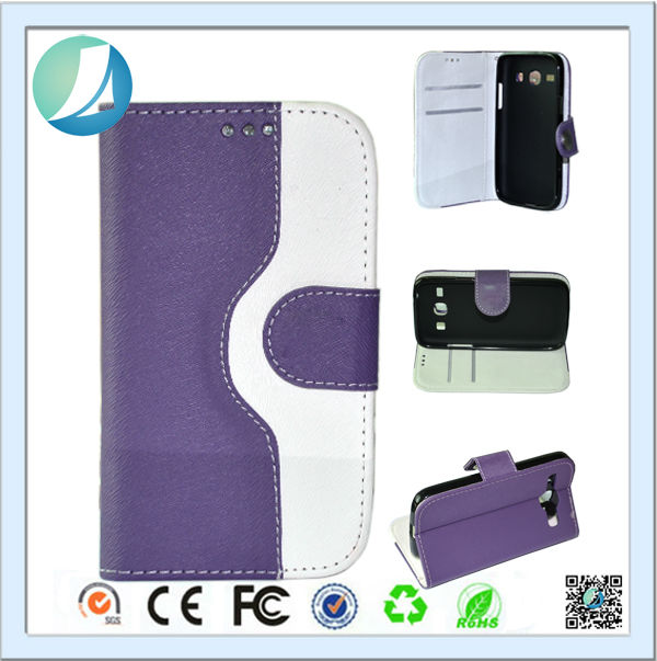 Flip Color Wallet Pocket PU Leather Case for Galaxy win i8552
