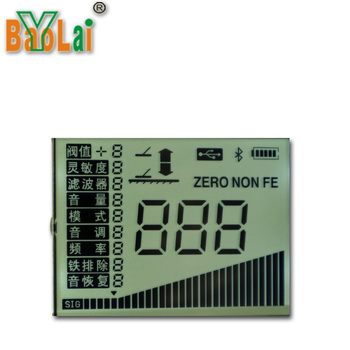 Custom 7 segment dot matrix monochrome small screen panel LCD Display