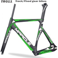 Miracle custom painting aero track bike frame 2017 hot selling carbon time trial bike 3K/UD Monocoque bicycle parts tt frame