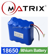 Matrix Rechargeable 18650 solar street light lithium ion battery pack 12v 15ah E-bike