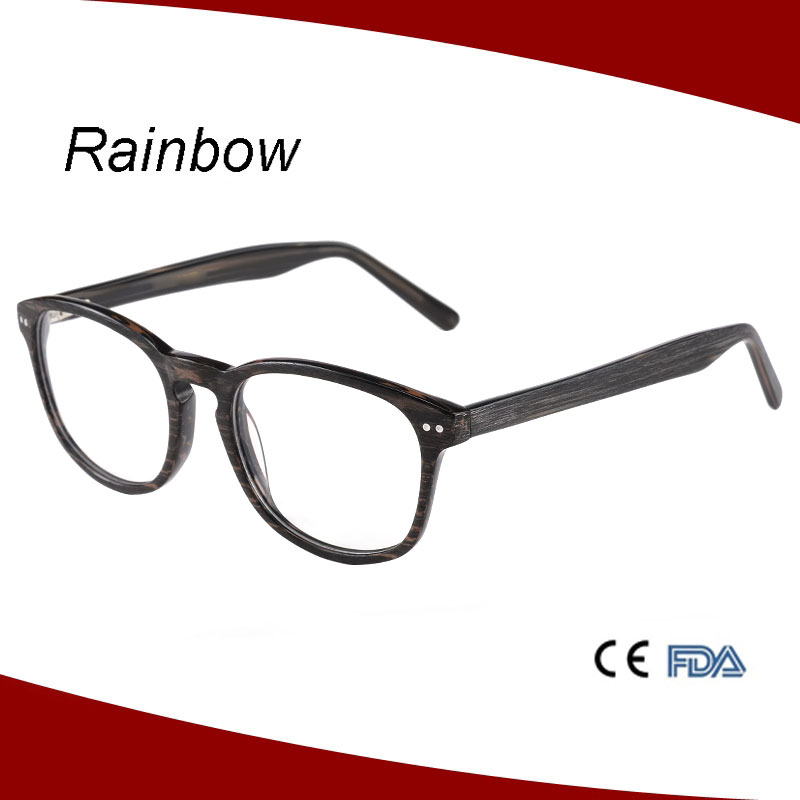 Customized round retro style old fashion ce eyeglasses, handmade acetate frame