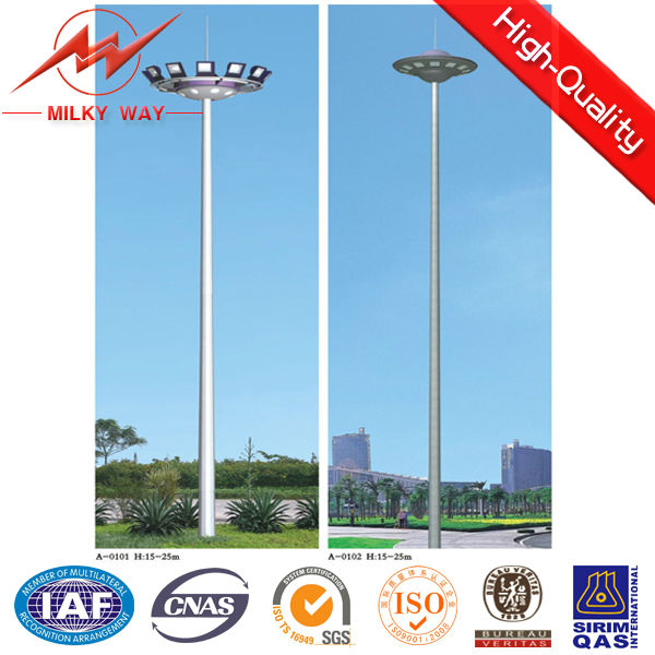 Morden Design Used Parking Lot Light Poles Mid-hinged Type