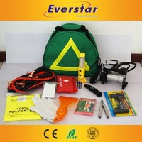 Car Safety Roadside Emergency Tool Kit Auto Repair Equipment with air compressor