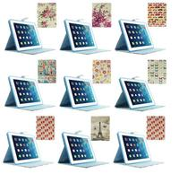 Cartoon Flowers & Leaves Magnetic Smart Leather Case for iPad 2 3 4 w/ Stand