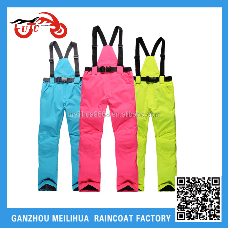 Custom 2015 Hot Sale Cheap Women's Colorful Overalll Ski Pants