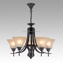 2018 new design glass wrought iron bedroom pendant lamp ball