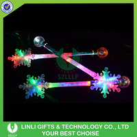 Festival Promotional Snowflake Plastic Led Light Stick For Kids Gifts
