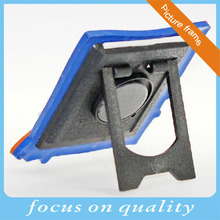 high quality 3d customized micro injection logo printing rubber frame with ABS stand