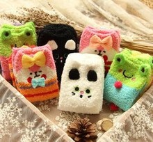 Z72561A Korean Cute Animal Series Coral Fleece LADIES' SOCKS
