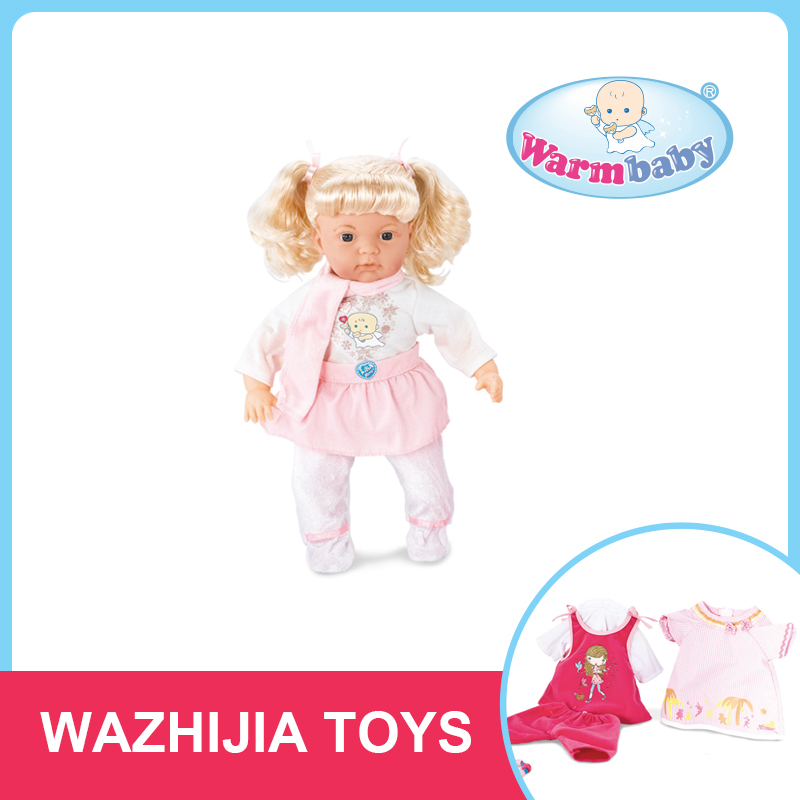 Fashion dress up games toy music doll christmas kids gift item for girls