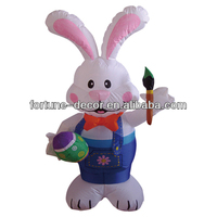 120cmH/4ft inflatable Easter decoration Bunny with brush