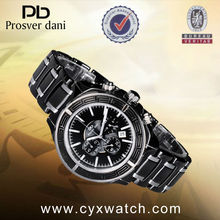 Cool Black Men Watch with Big Face from Professional Wrist Watch Manufacturer