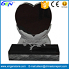 Hand Heart Memorial Black Granite Tombstone
