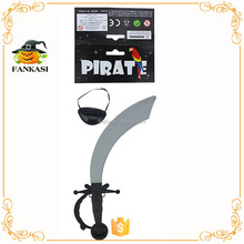 Plastic pirate eye patch with swords toys for party