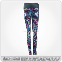 sublimation printing woman's fashionable wearing yoga clothes, sexy fitness wear, elastic yoga pants
