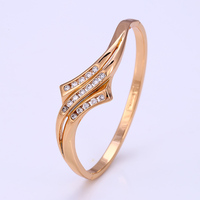 50788- xuping high quality indian fashion jewelry rose gold plated bangle