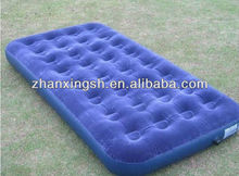 spring camping used inflatable air bed /inflatable flocking mattress