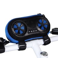 Wireless Bluetooth Speaker Bicycle Speaker Case with Hands-Free Speakerphone Calls and Rechargeable Power Bank Charge