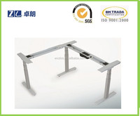 Effortlessly sitting to a standing position office desk height adjustable table