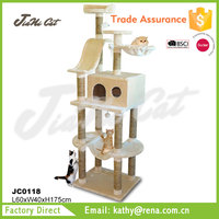 four levels,tall,luxury,beige color,cat trees