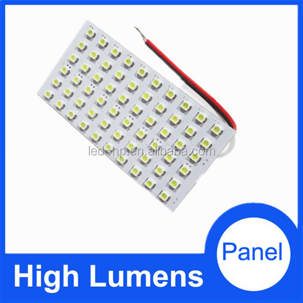 PCB 60smd 3528led car interior dome light, Auto mobile rectangle roof light led dome light