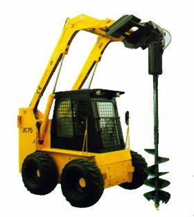 Attachment of JC Skid loader: Auger