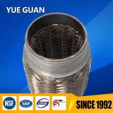 Corrugated Exhaust Flexible Pipe with inner braiding/Exhaust tail pipe with double bellows