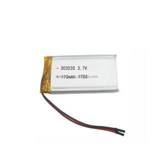 Smallest Li-ion polymer LP302035 170mAh 3.7V Li-polymer battery LiPo with PCM