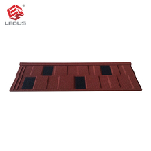 OEM Flat metal design roof tiles red and black villa housetop decor tile