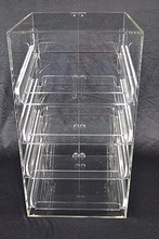 4 Tray Acrylic Bakery Cupcake Cabinet, Muffin Pastry Display Case