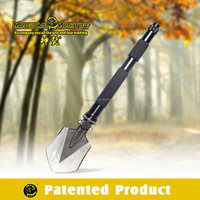 Camping aluminium alloy shovel, hi-carbon shovle with cutter knife for outdoor picking digging