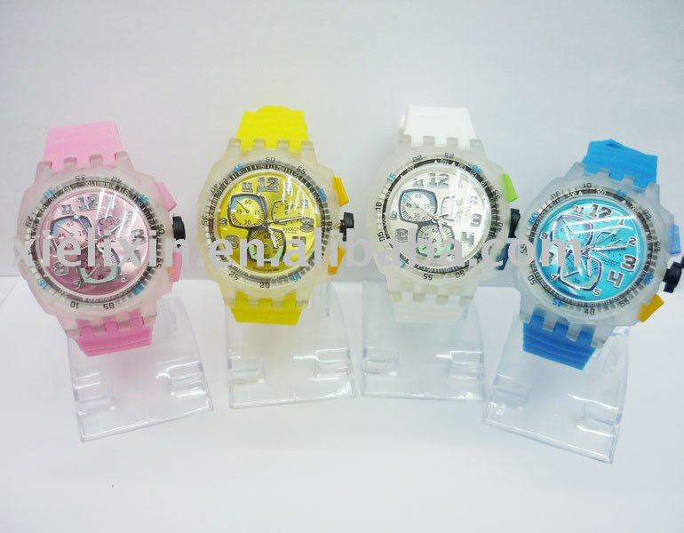 Silicone Watch/Papa Watch/Fashion Watch/Quartz Watch