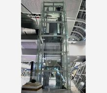 Panoramic elevator glass cabin and glass wall elevator