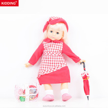 Custom American Beauty Girl Doll Makeup Doll Games Umbrella Doll With Clothes For Kids