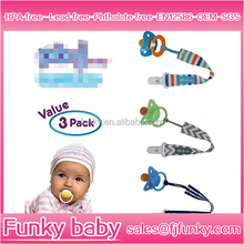 Universal BPA Free Baby Silicone Pacifier Holder With Plastic Clip