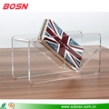 New product beautiful & transparent acrylic wallet display