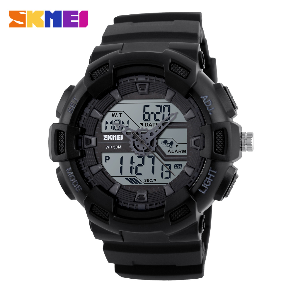 Factory Skmei waterproof men's sport digital analog watch