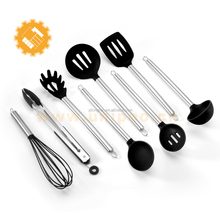 new innovative kitchen products 8 piece silicone cooking utensils set