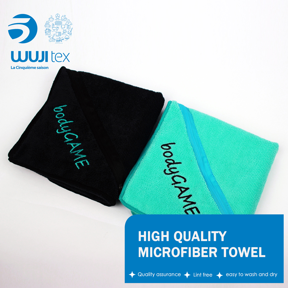 Custom printed fitness microfiber sports golf towels