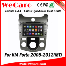 Wecaro WC-KU8046 (MT) Android 4.4.4 car dvd player for KIA Forte MT 2008 - 2012 with radio 3G wifi playstore