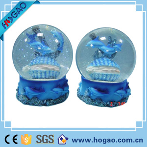 Imports Snow Globe Dolphin Collection Desk Figurine